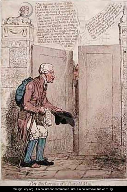 Pity the Sorrows of a Poor Old Man - James Gillray