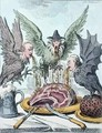 Harpyes Destroying the Feast - James Gillray