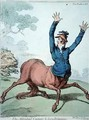 The Affrighted Centaur and the Lion Britanique - James Gillray