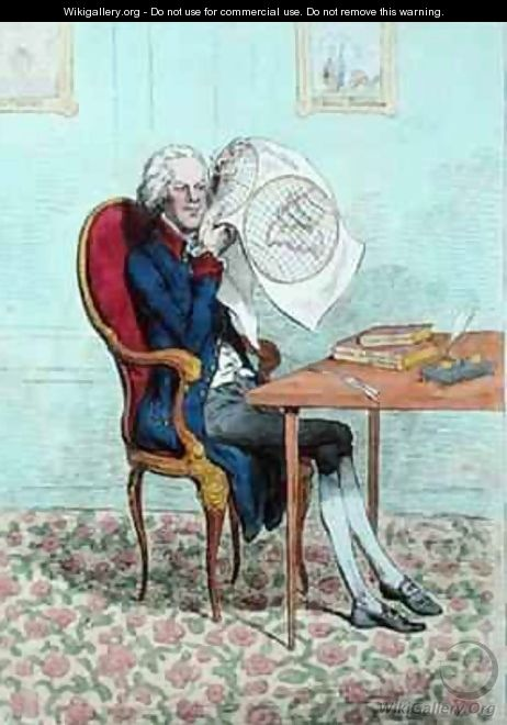 A Keen Sighted Politician finding out the British Conquests - James Gillray