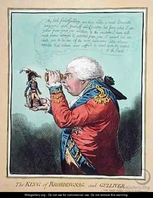The King of Brobdingnag and Gulliver - James Gillray