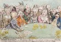 Modern Hospitality or A Friendly Party in High Life - James Gillray