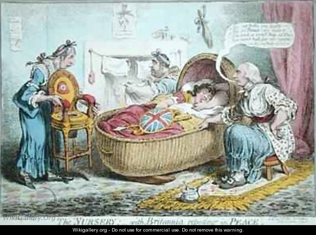 The Nursery with Britannia reposing in Peace - James Gillray