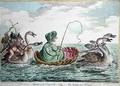 Venus a la Coquelle or The Swan Sea Venus - James Gillray