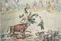 The Spanish Bull Fight or The Corsican Matador in Danger - James Gillray