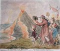 The Eruption of the Mountain or The Horrors of the Bocca del Inferno - James Gillray