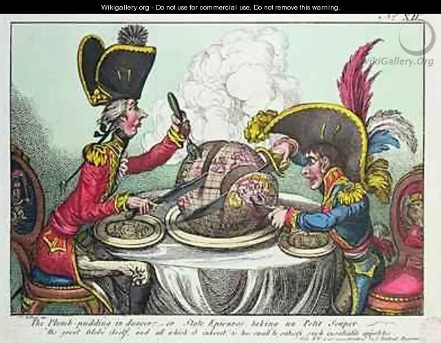 The Plum Pudding in Danger - James Gillray