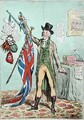 Improvement in Weights and Balances or Sir John Seeclear discovering the Balance of the British Flag - James Gillray
