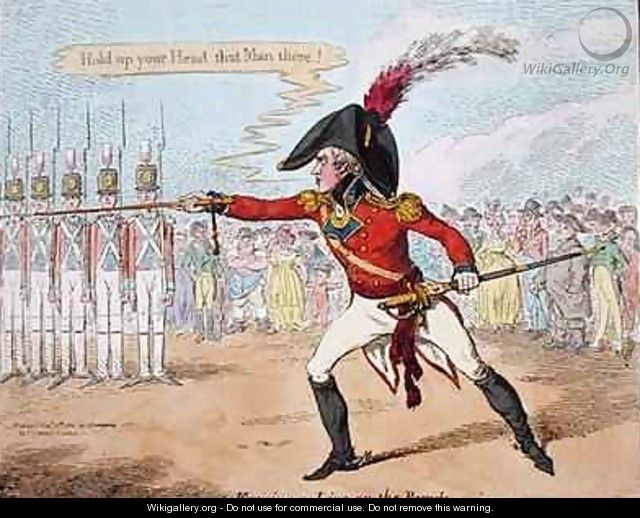 Forming a Line on the Parade 2 - James Gillray