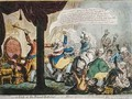 A Kick at the Broad bottoms - James Gillray