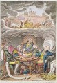 Delicious Dreams Castles in the Air Glorious Prospects vide An Afternoon Nap after the Fatigue of an Official Dinner - James Gillray
