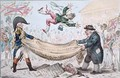 The high flying Candidate ie Little Paul Goose mounting from a Blanket - James Gillray