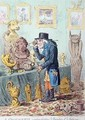 A Cognocenti Contemplating Ye Beauties of Ye Antique 2 - James Gillray