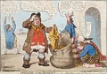Opening of the Budget or John Bull Giving his Breeches to Save his Bacon 2 - James Gillray