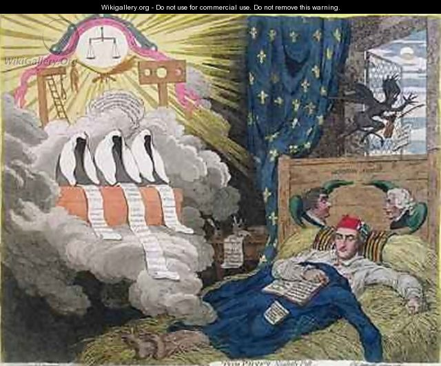 Tom Paines Nightly Pest 2 - James Gillray
