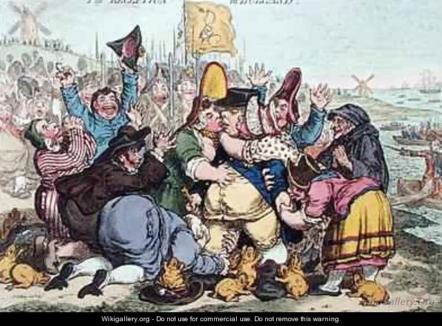The Reception in Holland 2 - James Gillray