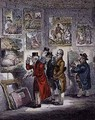 Connoisseurs Examining a Collection of George Morlands Pain - James Gillray