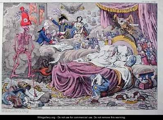 Political Dreamings Visions of Peace Prospective Horrors 2 - James Gillray
