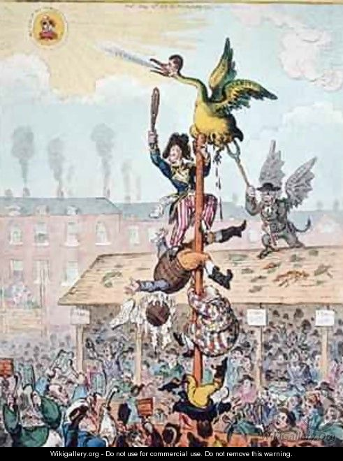 Election Candidate or the Republican Goose at the Top of the Pole 2 - James Gillray