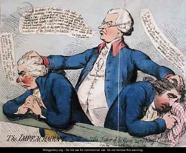 The Impeachment or The Father of the Gang turned Kings Evidence - James Gillray