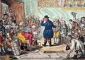 An Old English Gentleman Pesterd by Servants Wanting Places - James Gillray