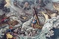 End of the Irish Invasion or The Destruction of the French Armada - James Gillray