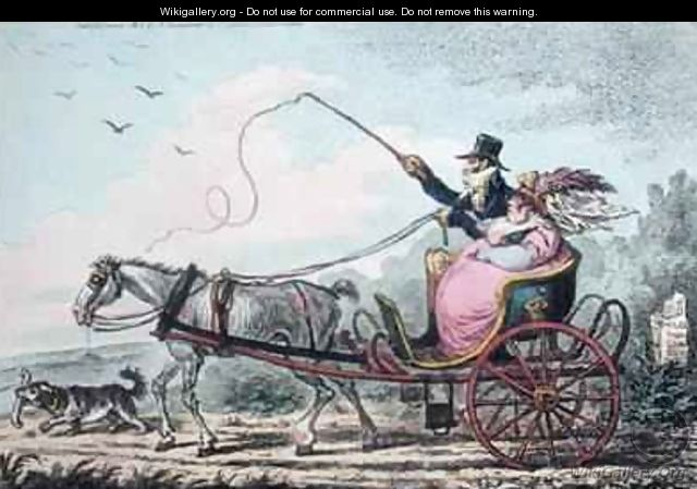 A Cockney and his Wife going to Wycombe - James Gillray