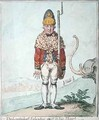 The Leadenhall Volunteer drest in his Shawl - James Gillray