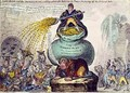 John Bull and the Sinking Fund or A Pretty Scheme for Reducing Taxes and Paying off the National Debt - James Gillray