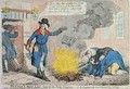 The Crown and Anchor Libel burnt by the Public Hangman - James Gillray