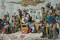 French Generals Retiring on account of their health with Lepaux presiding in the Directorial Dispensary - James Gillray