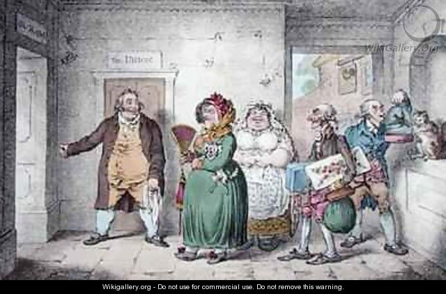 An Old Maid on a Journey - James Gillray
