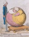 A Sphere Projecting Against a Plane - James Gillray