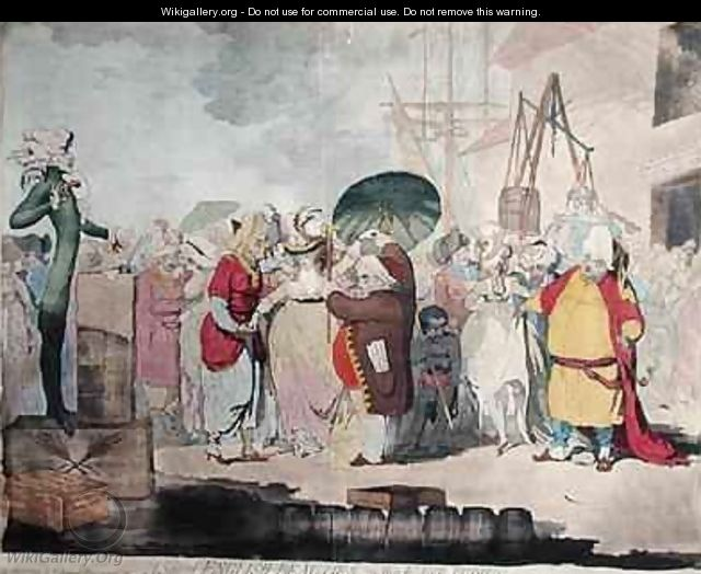 A Sale of English Beauties in the East Indies - James Gillray
