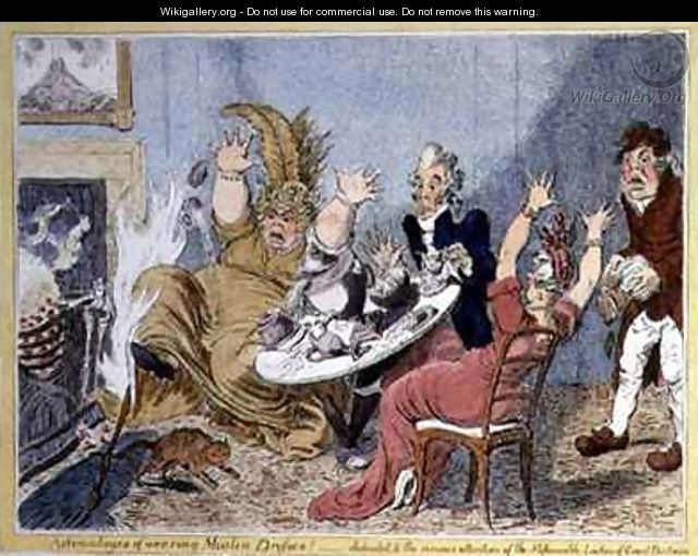 Advantages of Wearing Muslin Dresses Dedicated to the Serious Attention of the Fashionable Ladies of Great Britain - James Gillray