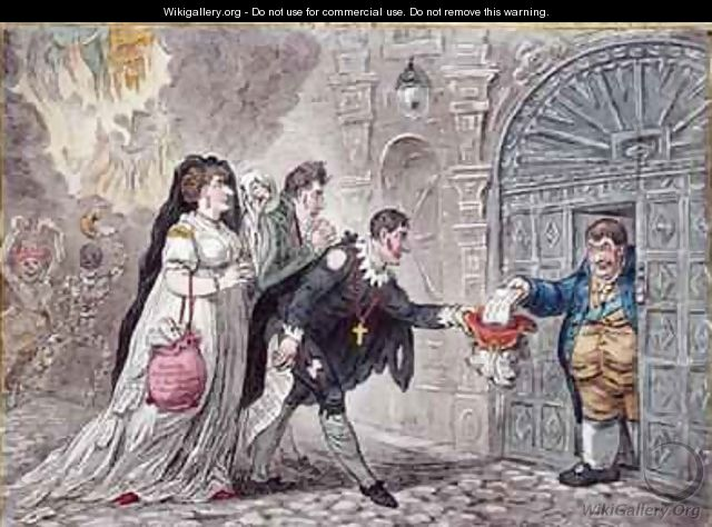 Theatrical Mendicants relieved - James Gillray