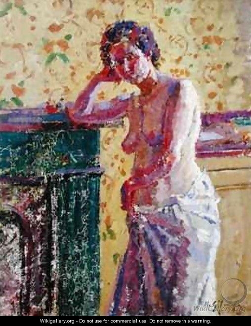Interior with Nude - Harold Gilman