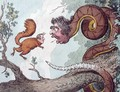 The Republican Rattle Snake fascinating the Bedford Squirrel - James Gillray