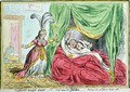 The Jersey Smuggler detected or Good Causes for Discontent Marriage vows are false as Dicers oaths - James Gillray