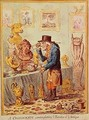 A Cognocenti Contemplating Ye Beauties of Ye Antique - James Gillray