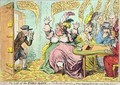 The Loss of the Faro Bank or The Rooks Pigeond - James Gillray