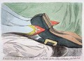 Fashionable Contrasts or The Duchesss little Shoe yielding to the Magnitude of the Dukes Foot - James Gillray