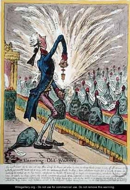 Uncorking Old Sherry - James Gillray