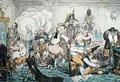 Making Decent ie Broad bottomites Getting into the Grand Costume - James Gillray