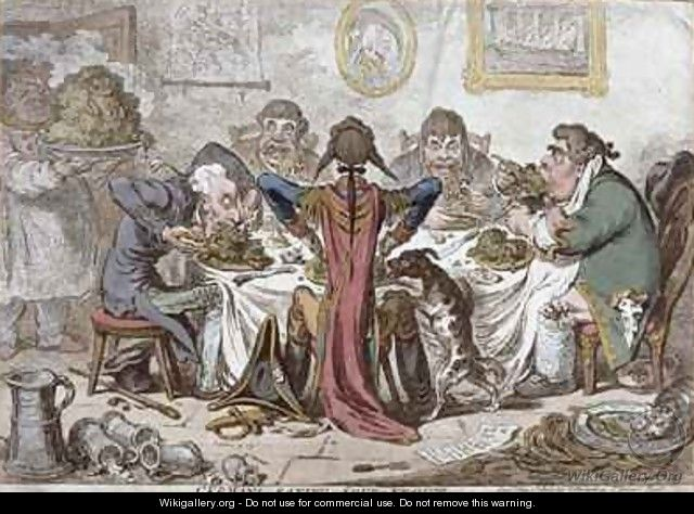 Germans Eating Sour Krout - James Gillray