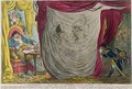 Ci devant Occupations or Madame Talian and the Empress Josephine Dancing Naked before Barrass in the Winter of 1797 - James Gillray