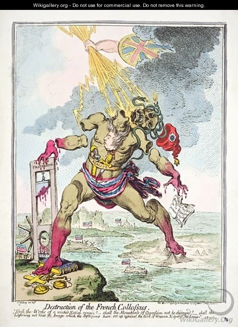 Destruction of the French Colossus - James Gillray