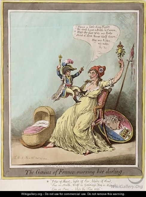 The Genius of France Nursing her Darling - James Gillray