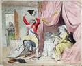 The Morning after Marriage or A scene on the Continent - James Gillray