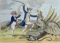 St George and the Dragon - James Gillray